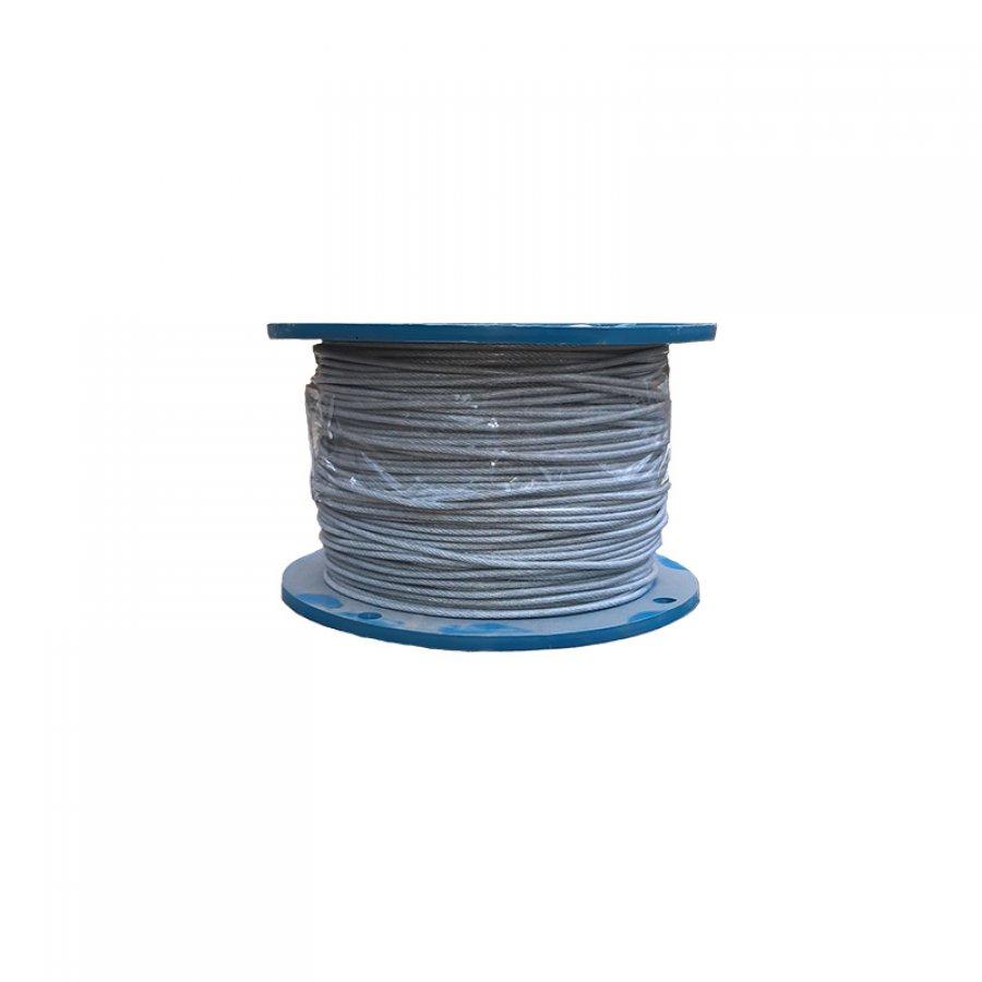 Трос в оплетке ПВХ - DIN 3055 PVC M4/5 мм