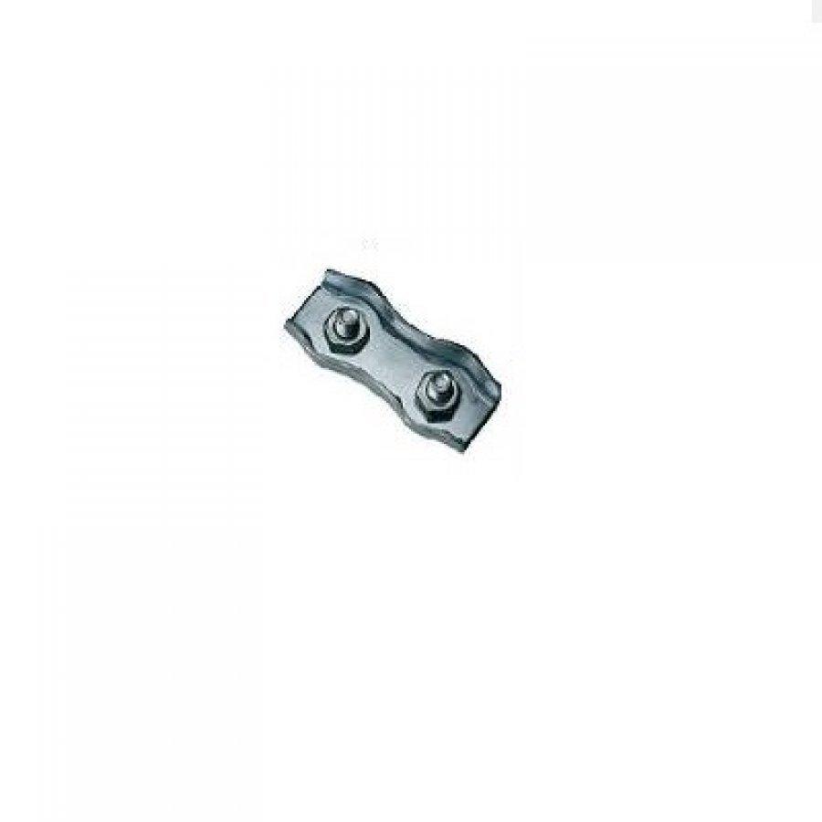 Зажим троса плоский (DUPLEX) 2х2 мм
