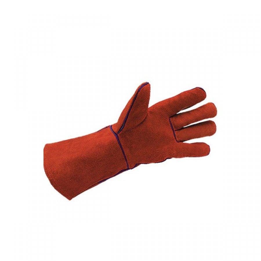 Перчатки Цельноспилковые красные краги размер 22-24