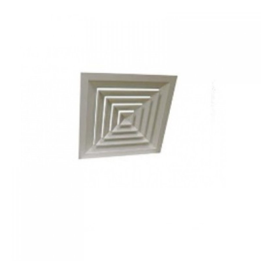 Алюминиевые потолочные решётки с четырёхсторонним распределением воздуха 4С-клапан 300х300