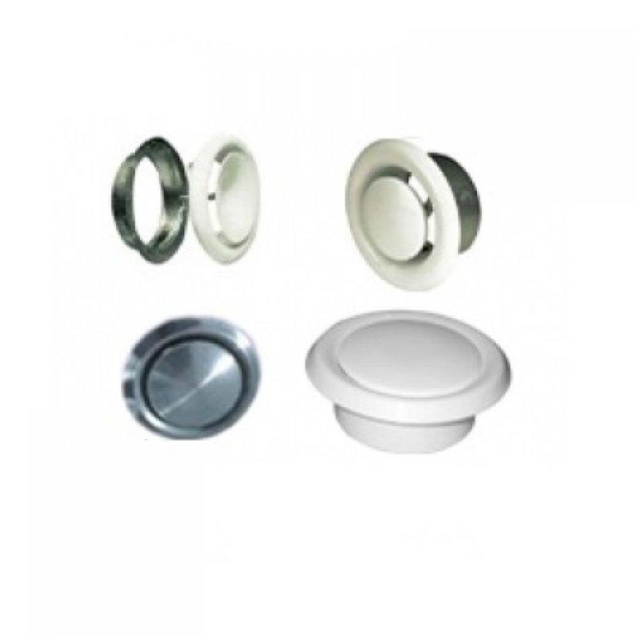 Диффузоры DVS-P для применения в приточных системах вентиляции, стальной, белого цвета 125