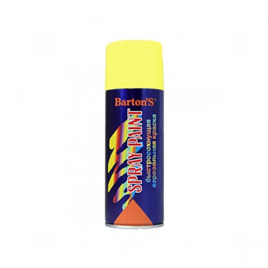 Краска аэрозольная Bartons Spray Paint 520 мл ЖЕЛТАЯ глянец