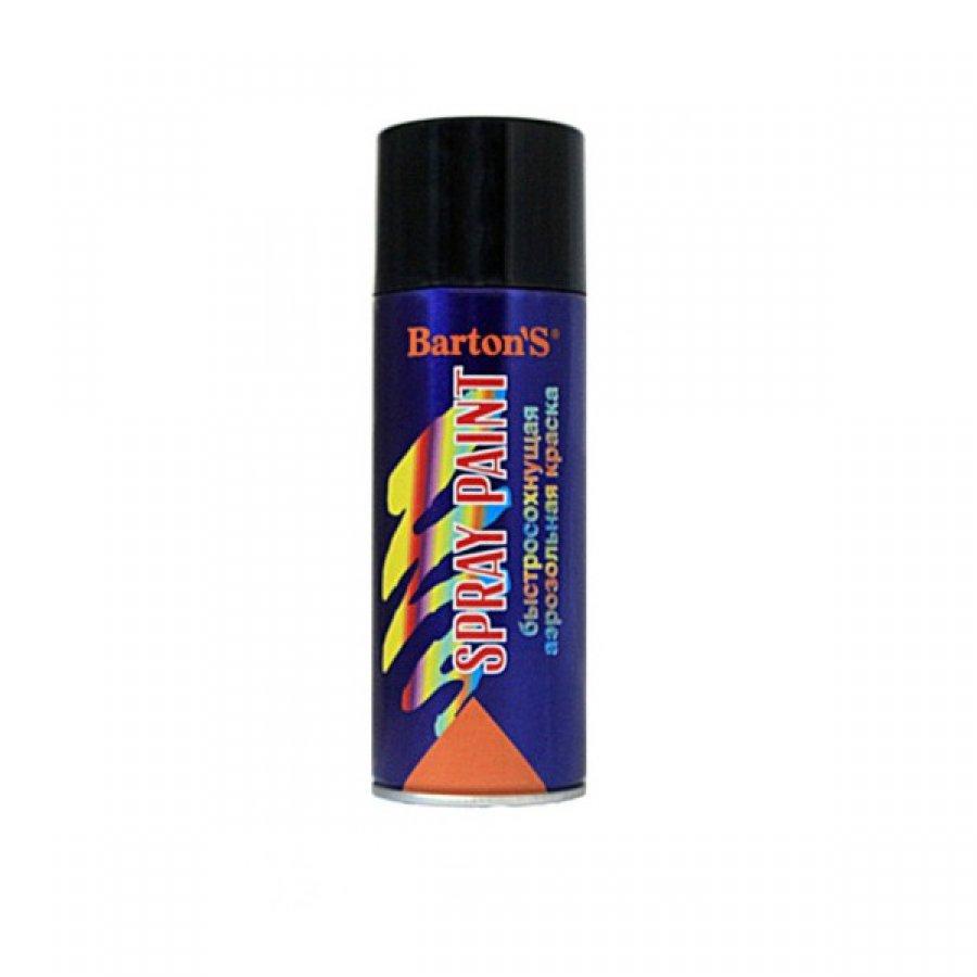 Краска аэрозольная Bartons Spray Paint 520 мл ЧЕРНАЯ глянец
