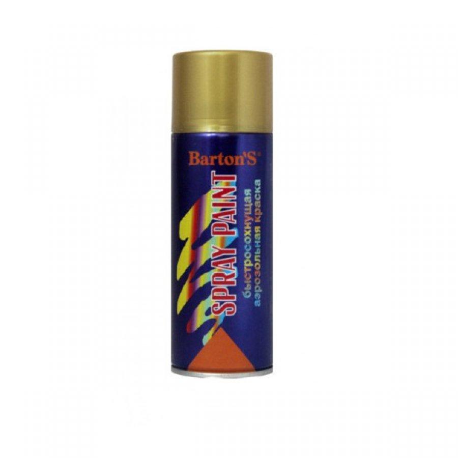 Краска аэрозольная Bartons Spray Paint 520 мл ЛАТУНЬ