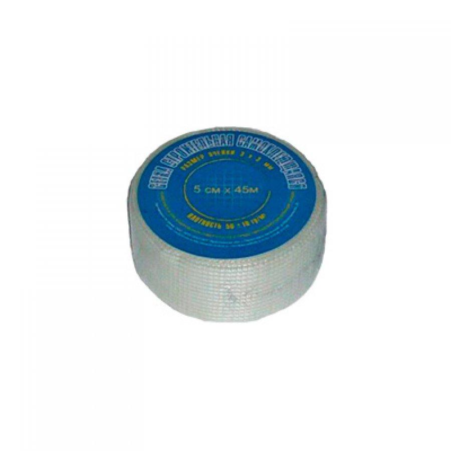 Лента стеклотканная самоклеющаяся, 50 гр ячейка 3х3 мм рулон 0,05х45 м