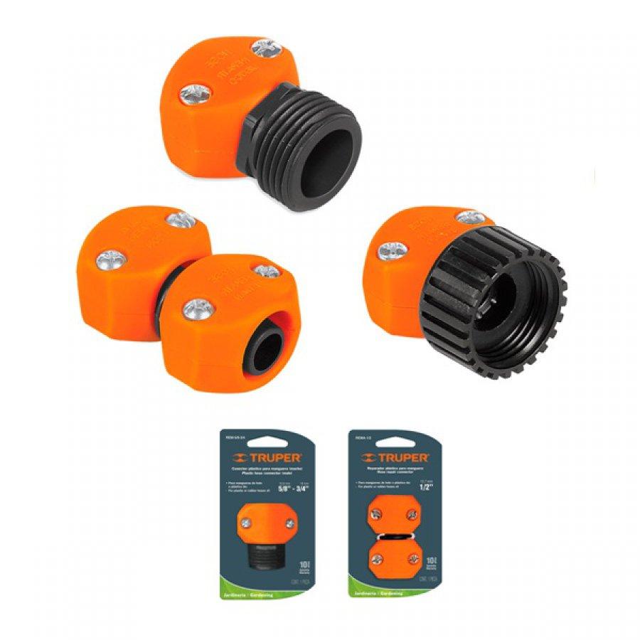 Коннектор для шланга ремонтный пластиковый рабочий размер 5/8-3/4 дюйма