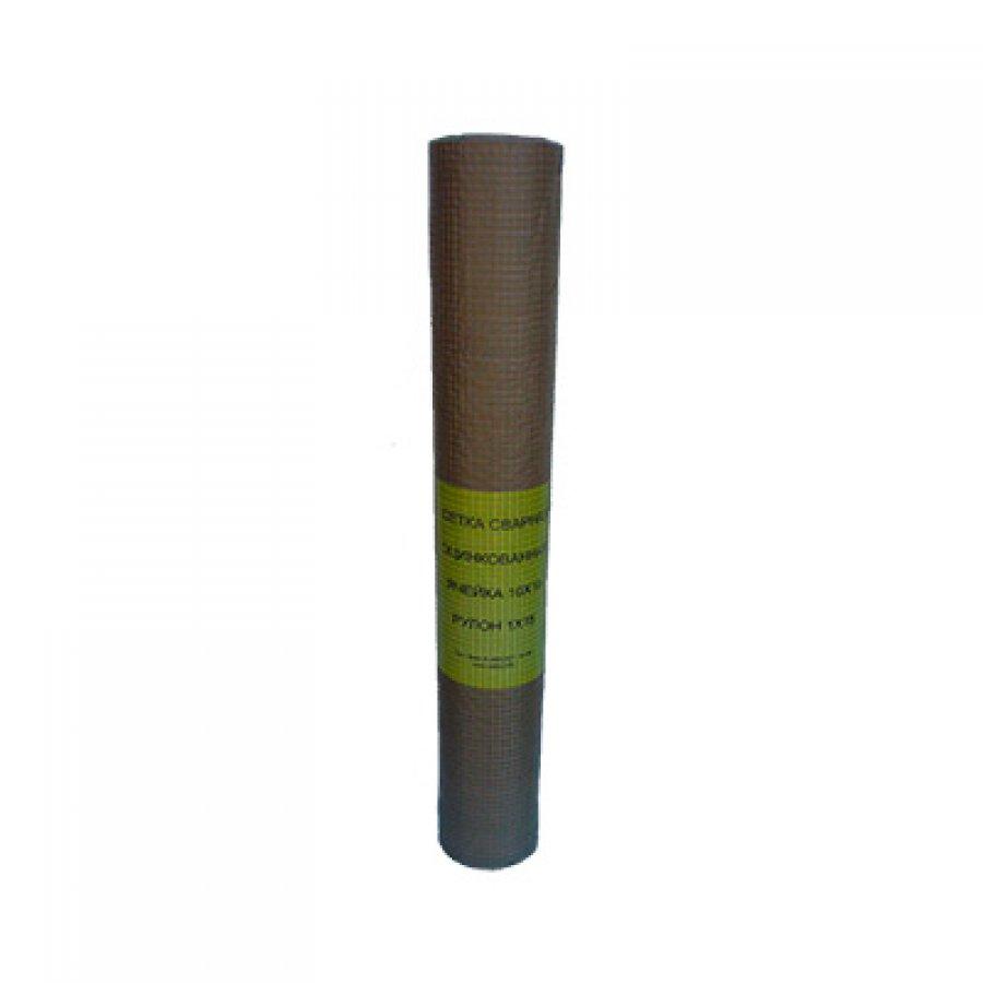 Сетка сварная из оцинкованной проволоки в рулонах 10х10х1,2 мм. Размер рулона 1х15 м