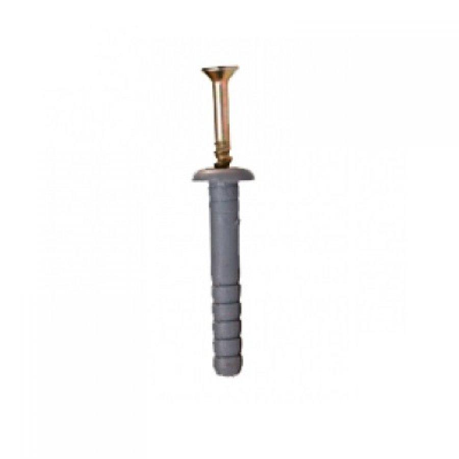 Дюбель-гвоздь для быстрого монтажа с бортиком (нейлон) 6х60 мм