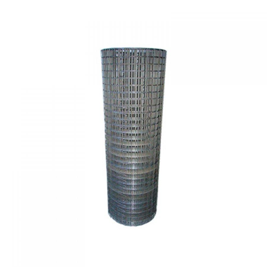 Сетка сварная из оцинкованной проволоки в рулонах 25х50х1,8 мм. Размер рулона 1х50 м