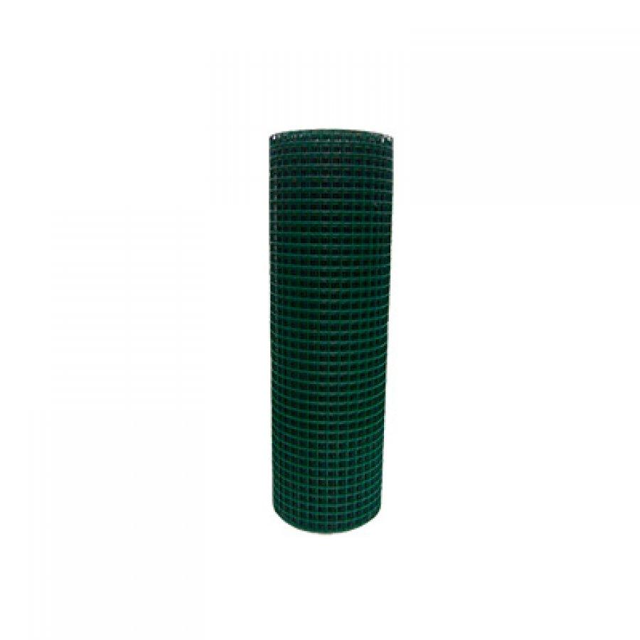 Сетка сварная в ПВХ в рулонах 30х30х1,4 мм. Размер рулона 1,17х25 м
