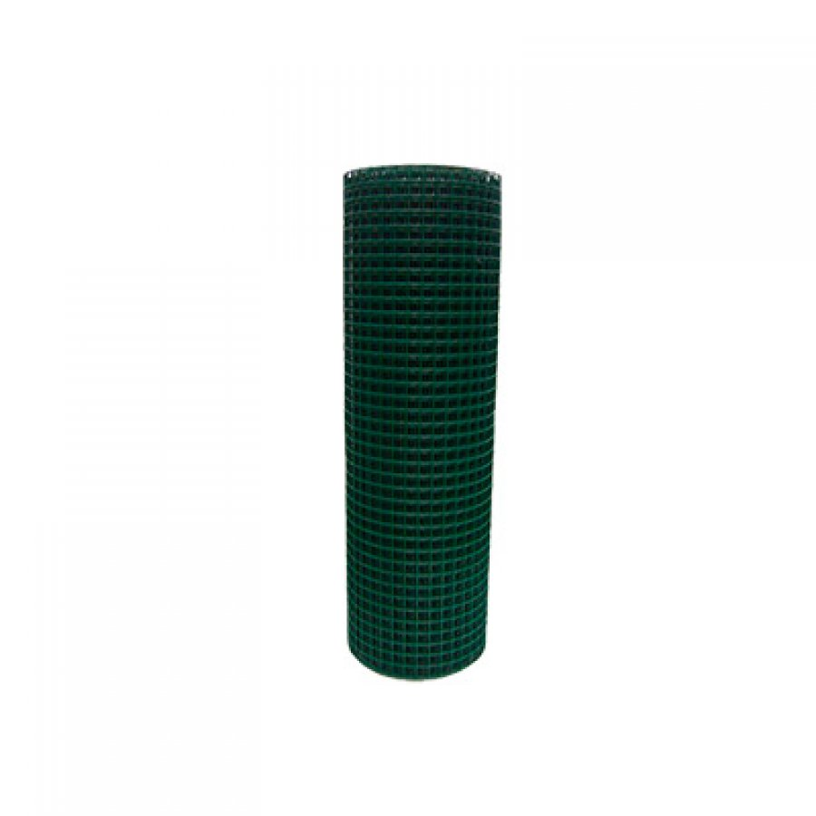 Сетка сварная в ПВХ в рулонах 50х50х1,8 мм. Размер рулона 2х15 м